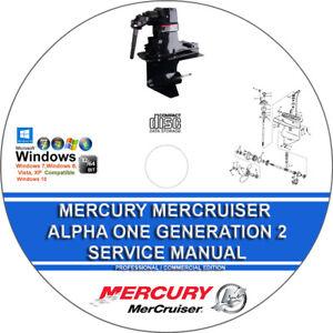 Mercury Mercruiser Sterndrive Unit Alpha One Generation II Service Repair Manual