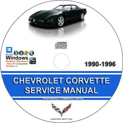 Chevrolet Corvette 1990 1991 1992 1993 1994 1995 1996 Service Repair Manual CD