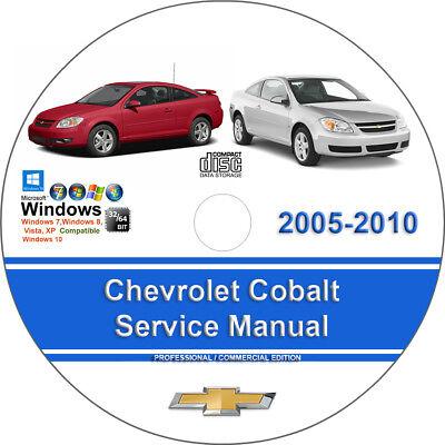Chevrolet Cobalt 2005 2006 2007 2008 2009 2010 Factory Service Repair Manual CD