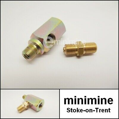 Classic Mini Oil Pressure Gauge Pipe T-Piece & Adaptor austin morris rover 1275