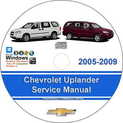 Chevrolet Uplander 2005 2006 2007 2008 2009 Factory Service Repair Manual