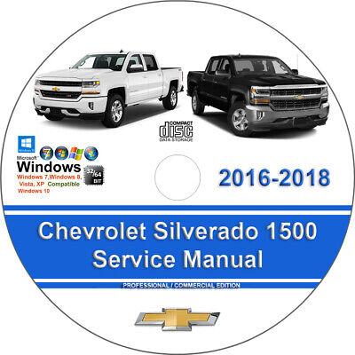 Chevrolet Silverado 1500 2016 2017 2018 Factory Workshop Service Repair Manual