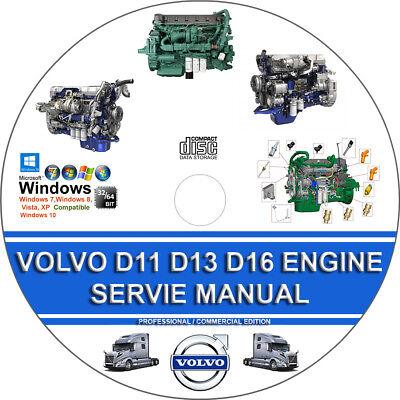 VOLVO TRUCK D11 D13 D16 ENGINE SERVICE REPAIR MANUAL + OPERATORS MAINTENANCE MAN ()