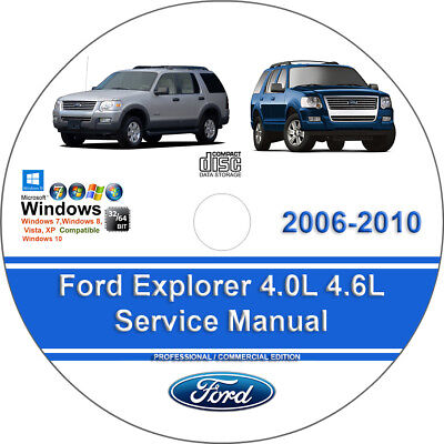 Ford Explorer including Sport Trac 2006 - 2010 Factory Workshop Service Manual
