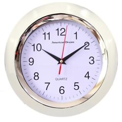 White Wall Clock 10 Inch Round