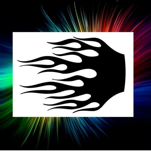 FLAME STENCIL #25 AIRBRUSH, PAINT BRUSH, TEMPLATE, ART