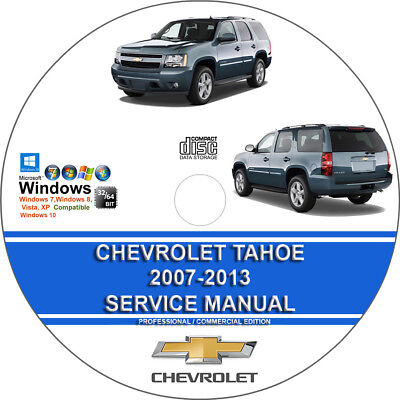 Chevrolet Tahoe 2011 2012 2013 Service Repair Manual on CD - 3 Days Shipping!