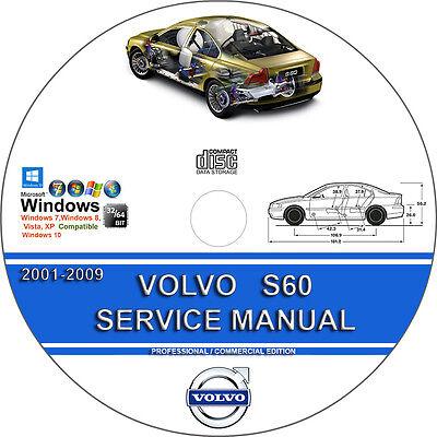 Volvo S60 2001-2009 Service Repair Manual on CD 2001 02 03 04 05 06 07 08 2009