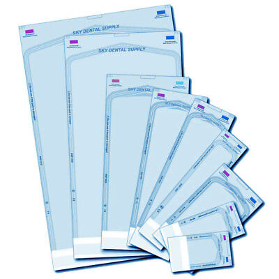 Up To 4000 All Sizes Dual Indicators Self Seal Pouch Sterilization Bag Pouches