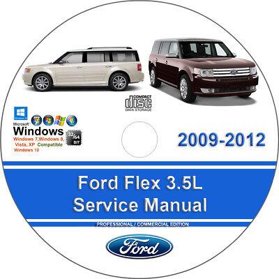 Ford Flex 2009 2010 2011 2012 3 5L Factory Workshop Service Repair Manual