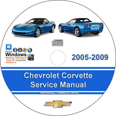 Chevrolet Corvette 2005 2006 2007 2008 2009 Factory Service Repair Manual