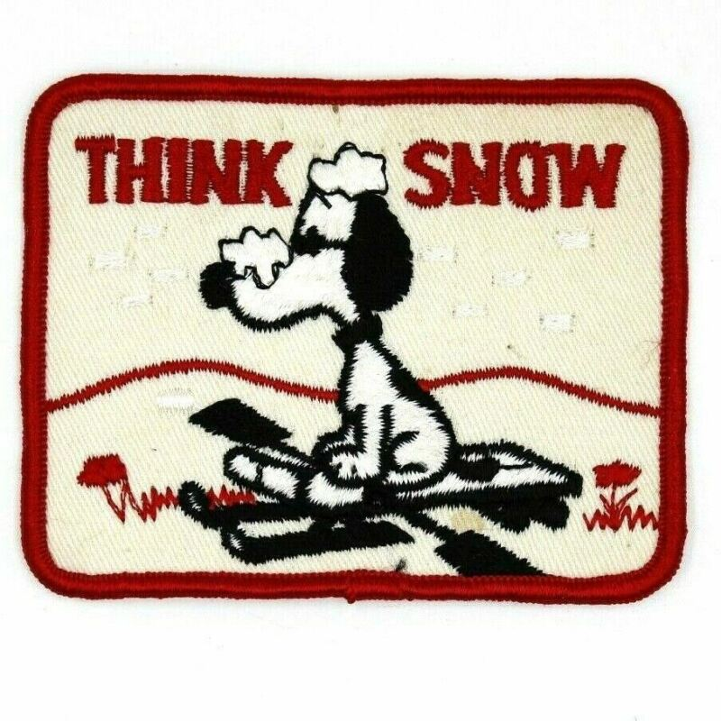 Think Snow Peanuts Cartoon Snoopy Patch Winter Sled
