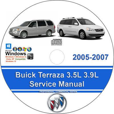 Buick Terraza 2005 2007 3 5L 3 9L Factory Workshop Service Repair Manual