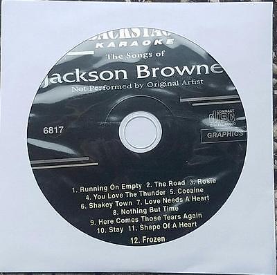 JACKSON BROWNE KARAOKE CDG DISC BACKSTAGE KARAOKE OLDIES MUSIC CD+G