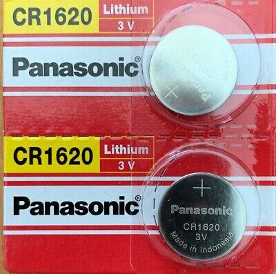 2- CR1620 PANASONIC LITHIUM BATTERIES 3V Exp. 02/2028 Authorized Seller