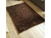 "NEXT brown ""spaghetti"" style rug (120 x 170cm)"