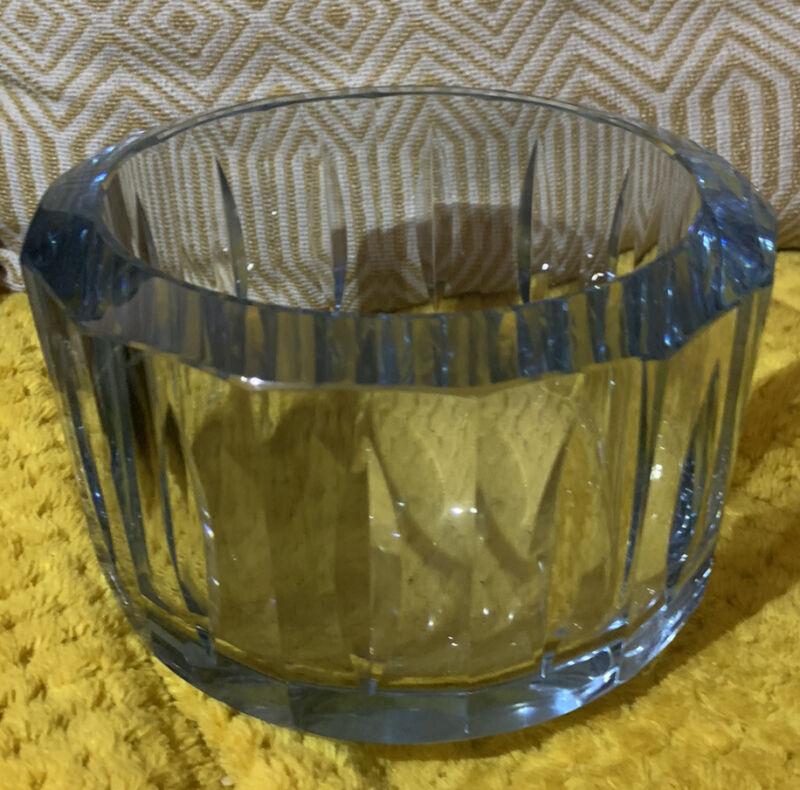 Rare Strombergshyttan ?Swedish  Blue Glass Bowl, Signed