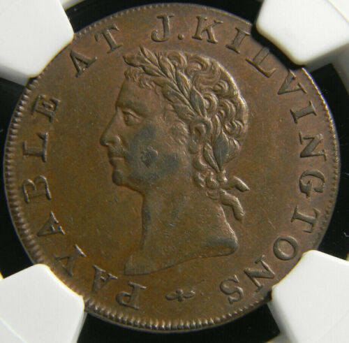 Great Britain Middlesex 1795  1/2 P Conder Token NGC AU 58 BN