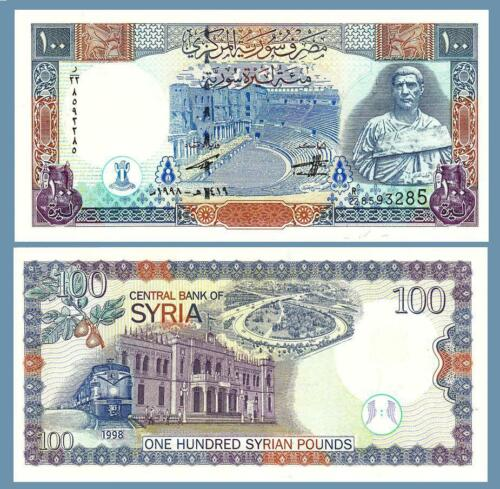 SYRIA 100 POUNDS 1998 , UNC , P-108