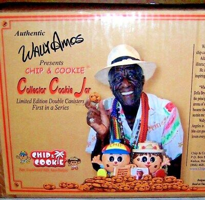COLLECTOR'S LIMITED EDITION COOKIE JAR ~~ WALLY AMOS CHIP & COOKIE 1ST IN SERIES