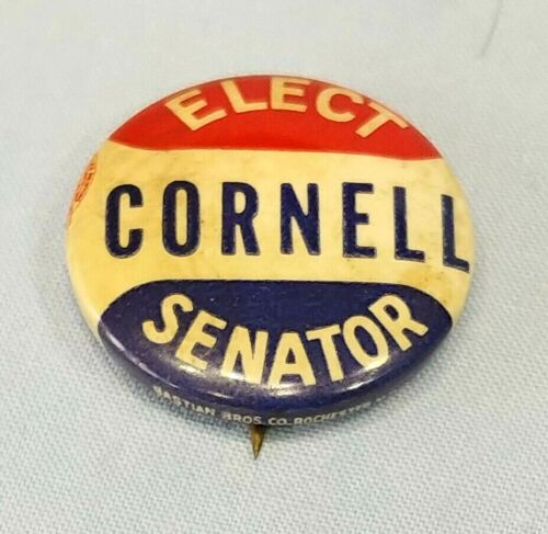 Vintage Paul Cornell 1940 U.S. Senate Campaign Pinback Button