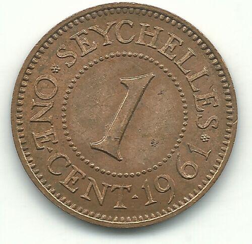 HIGH GRADE 1961 SEYCHELLES ONE CENT COIN-APR340