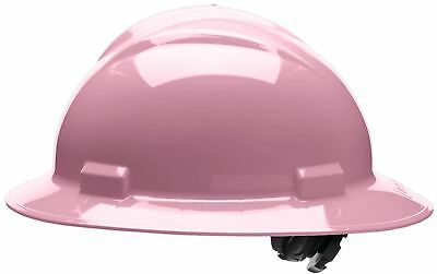 Bullard Full Brim Hard Hat With 4 Point Ratchet Suspension Pink