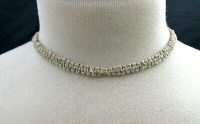 Patent Choker - Plain Hemp Necklace Macrame Choker Hippie Handmade