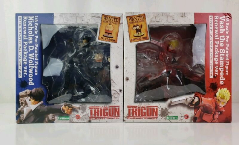 ARTFX J Trigun Badlands Rumble Vash the Stampede and Wolfwood NEW Authentic