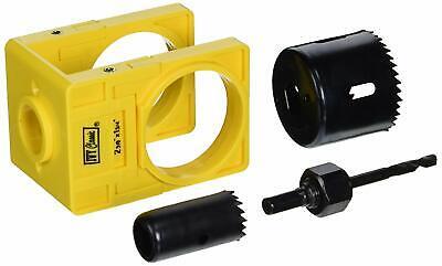 Door Knob Kit (Carbon Steel Hole Saw Drill Bit Door Knob Lock Installation Kit Tool)