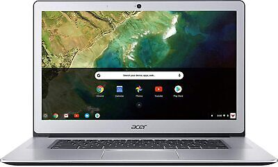 "Acer 15.6"" Touchscreen Chromebook Laptop Intel N3350 4GB 32GB Chrome -Silver"