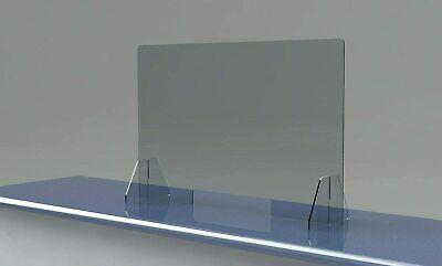 Sneeze Guard Clear Plexiglas Acrylic Table Desk Checkout Shield 32w X24h