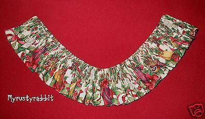 Longaberger Large Basket Garter ~ 12 Days of Christmas Fabric - HTF