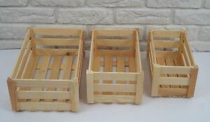 In legno cassette grezzo decoupage casse 3 misure regalo - Cassetta portalegna ...