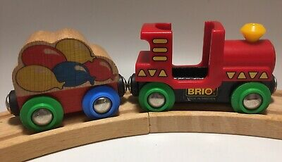 BRIO Wooden Railway Curious George Circus Train Set Balloon Cargo Car. Ok Thomas