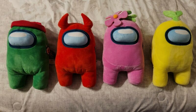 """Toikido Among Us 12""""  Premium Soft Plush Toy New with Tags Licensed (Set of 4)"""