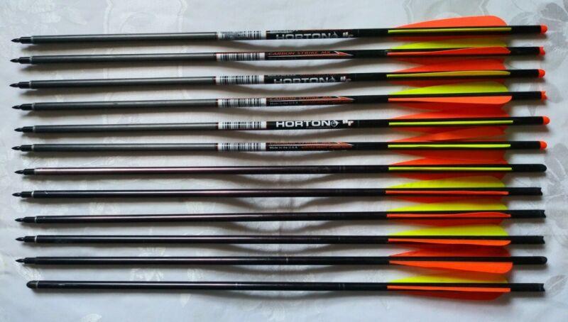 💥 Horton Crossbow Lightning & Carbon Strike MX Bolts Arrows (NEED RE-FLETCHING)