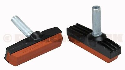 Two Genuine Mathauser X Shimano BLACK Wet//Dry Dura Ace Brake Pads One set of 2