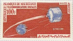 MAURITANIA-MAURETANIEN-1964-230-C35-Space-Communication-Satellite-Weltraum-MNH