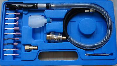 BGS Druckluft Mini Stabschleifer Satz  Micro Schleifgerät 17 teilig Profiware