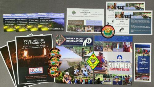 NCAC BSA Goshen Scout Reservation Camps Unreleased Summer 2020 Paperwork Lot