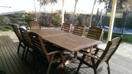 9 Piece Timber Outdoor Setting Kirrawee Sutherland Area Preview