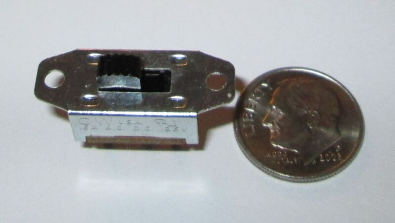 SLIDE SWITCHES, (3)  MINIATURE  SPDT MADE IN USA UL APPROVED  NOS  3 /$.99