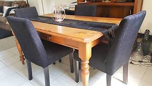 Solid Wood Farmhouse Dining Table Glendalough Stirling Area Preview