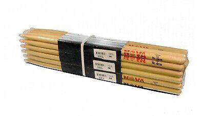 12-Pr BRICK VIC FIRTH® Nova 7A Nylon Tip DRUM STICKS N7AN Hickory Bulk NEW - Bulk Drum Sticks
