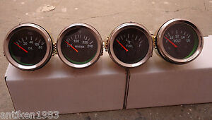 2-034-52mm-Electrical-Oil-Pressure-Temperature-Volt-Fuel-Gauge-Black-Chrome