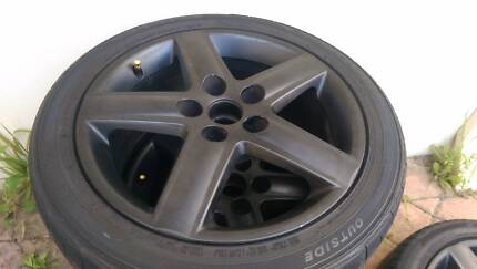 """4x Audi, Mercedes, VW 17"""" alloy rims with tyres 50% left Como South Perth Area Preview"""