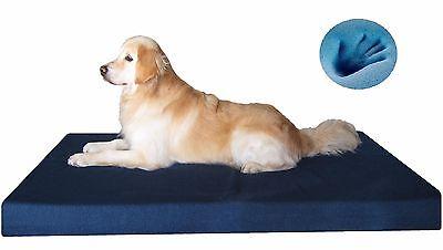 Orthopedic Waterproof Memory Foam XXL Large Pet Dog Bed for Large Dog Denim Blue