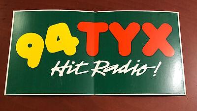 Vintage 1980-90s Jackson Mississippi Rock Radio Bumper Sticker _ 94 TYX