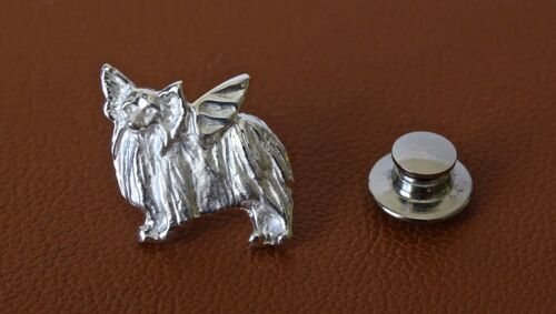 Sterling Silver Papillon Angel Lapel Pin